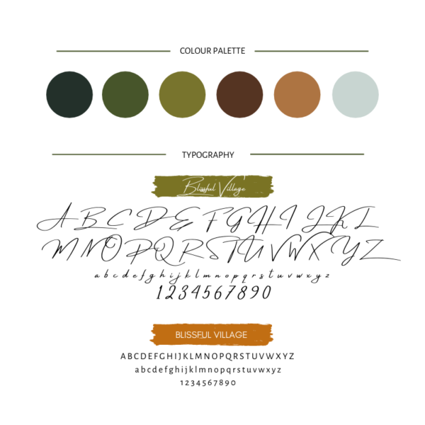 Rustic branding kit