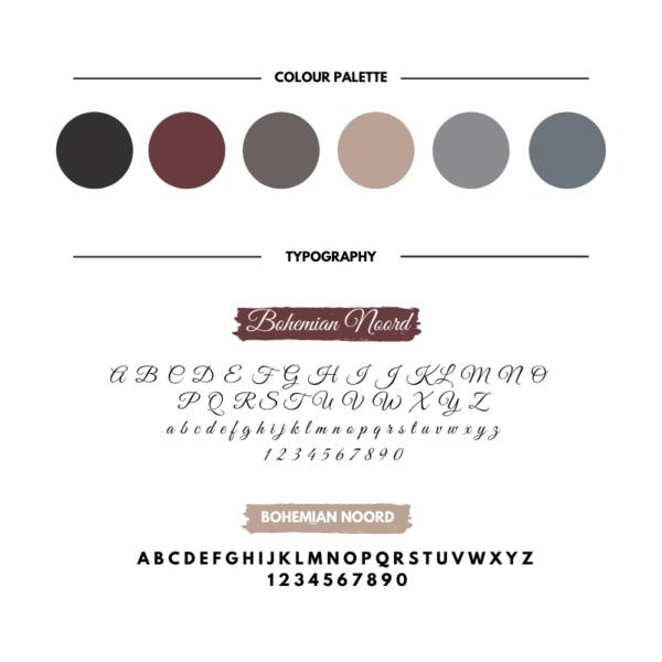 Bohemian branding kit