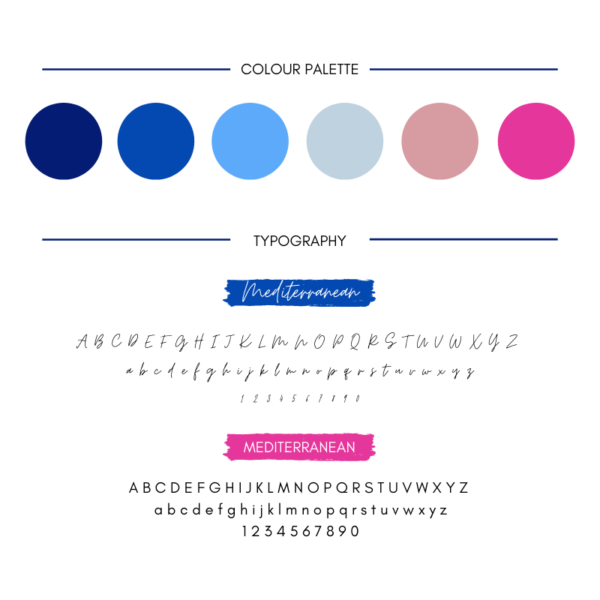 Royal blue branding kit for small business