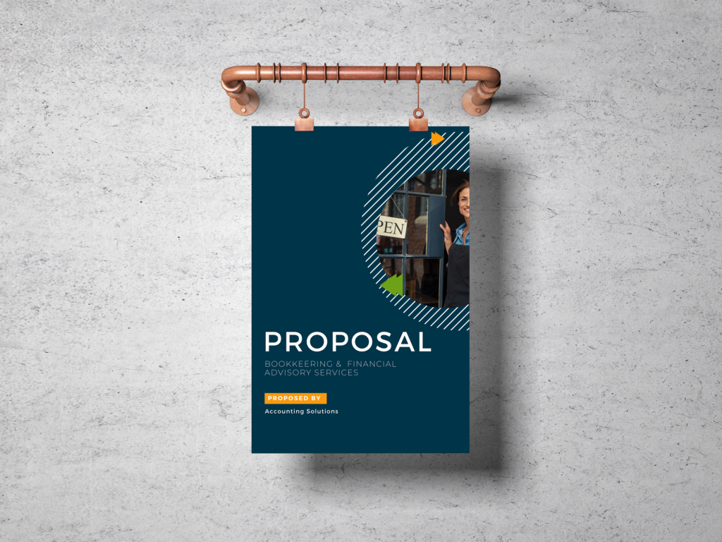 Brand marketing and proposal redesign for Accounting Solutions NY