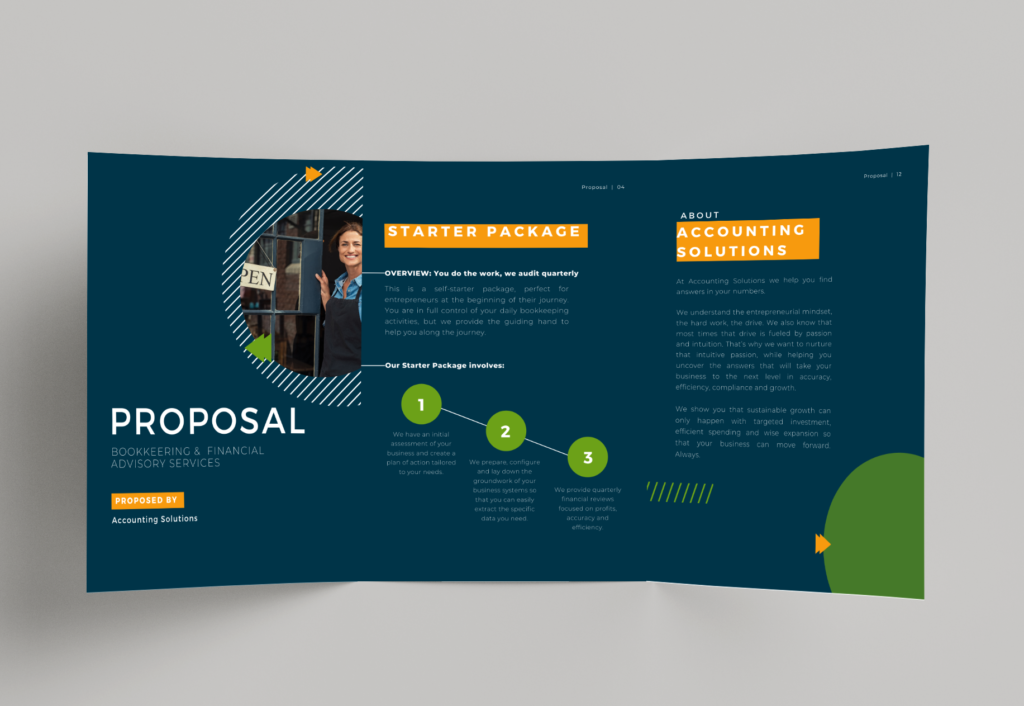 Proposal Rebrand Services for Accounting Solutions NY - slider before & after